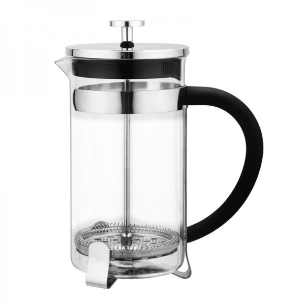 Olympia French Press Edelstahl und Glas 35cl