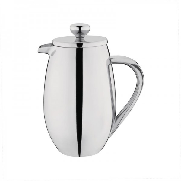Olympia gerundete isolierte French Press Edelstahl 35cl